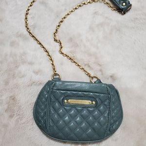 Juicy Couture Green Soft Leather Heavy Gold Chain